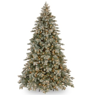 'Feel-Real' Frosted Colorado Spruce Hinged Tree