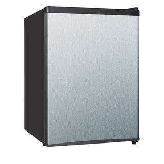 Equator-Midea Stainless Steel 2.4 cubic-foot Compact Refrigerator