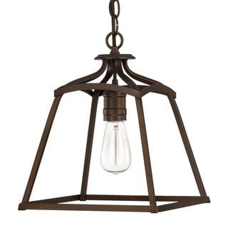 Transitional Burnished Bronze 1-light Foyer Pendant