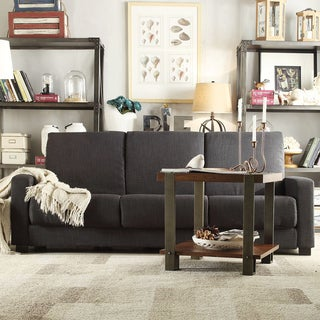 INSPIRE Q Anaheim Dark Grey Linen Convertible Sofa Sleeper