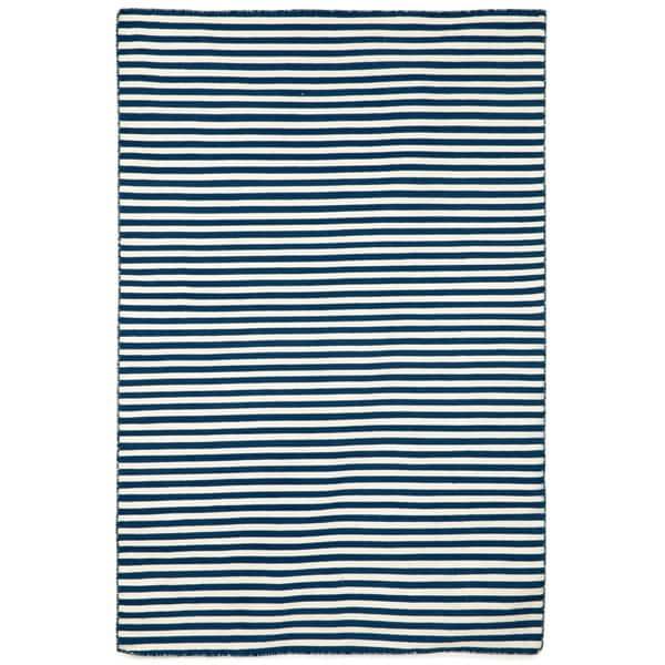 Petite Stripe Navy Outdoor Rug (3'6x5'6)