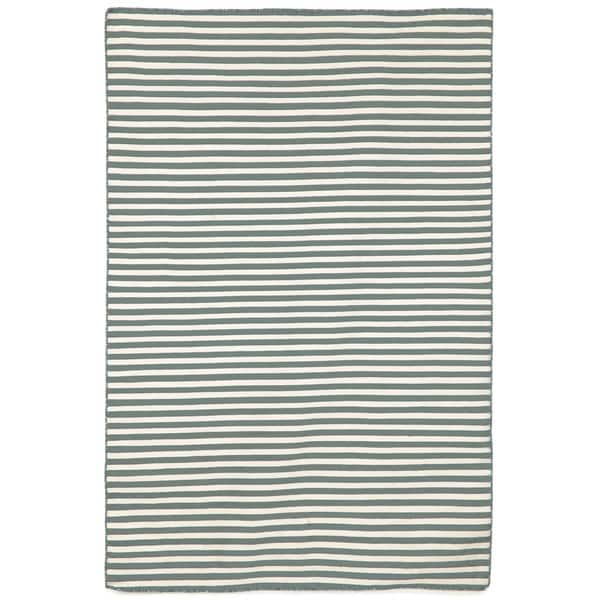 Petite Stripe Grey Outdoor Rug (3'6x5'6)