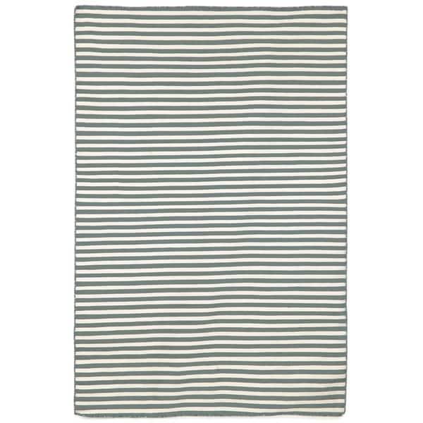 Petite Stripe Grey Outdoor Rug (3'6x5'6)