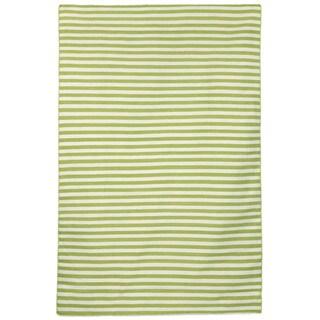 Petite Stripe Green Outdoor Rug (5'X7'6)