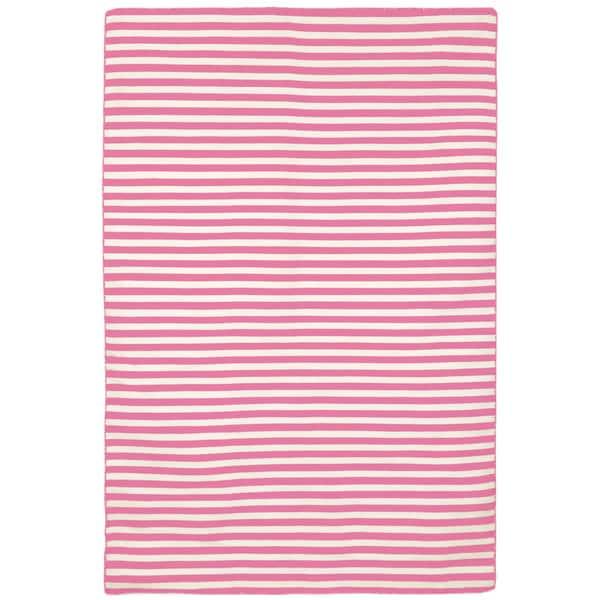 Petite Stripe Pink Outdoor Rug (5'X7'6)