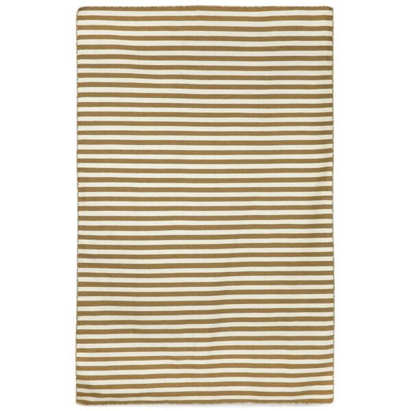 Petite Stripe Khaki Outdoor Rug (7'6X9'6)