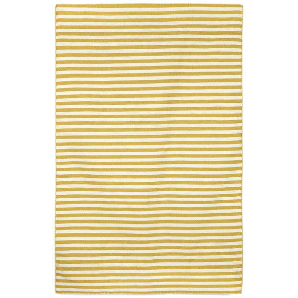Petite Stripe Yellow Outdoor Rug (8'3X11'6)