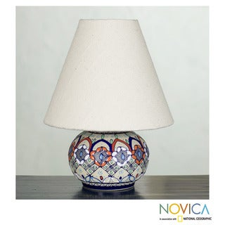 Handcrafted Ceramic 'Enchanted Light' Lamp (Mexico)