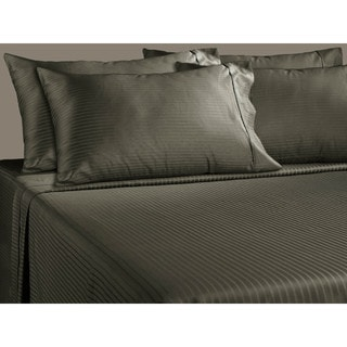 Luxury Stripe 700 Thread Count Cotton Rich Deep Pocket 6-piece Sheet Set