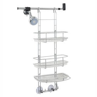 Zenith Make-A-Space Satin Chrome Shower Caddy