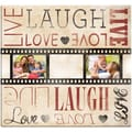 Live Laugh Love Film Strip Post Bound Scrapbook 12X12in