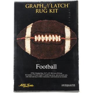 "Latch Hook Kit 33.5""X22"" Shaped-Football"