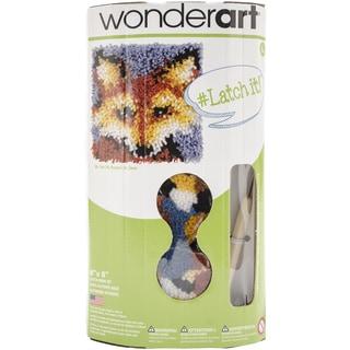 """Wonderart Latch Hook Kit W/Tool 8""""X8""""-Mr. Fox"""