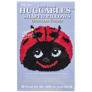 Huggables Ladybug Pillow Latch Hook Kit-12INx10IN