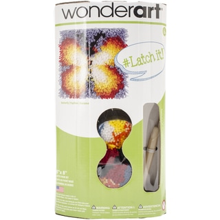 """Wonderart Latch Hook Kit W/Tool 8""""X8""""-Butterfly"""