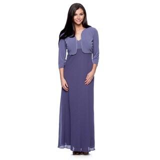 Alex Evenings Women's Iris Long Dress and Jacket Set