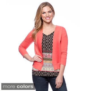 August Silk Women's Rib Framed Cardigan