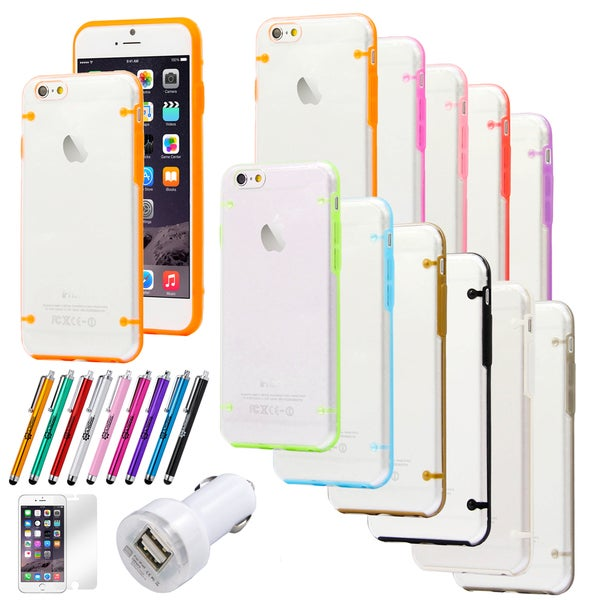 Gearonic Ultra Thin TPU Case Bundle for Apple iPhone 6