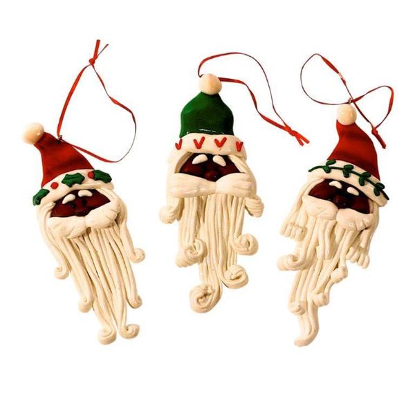 Santa Head Gingerbread Ornament (Set of 12)