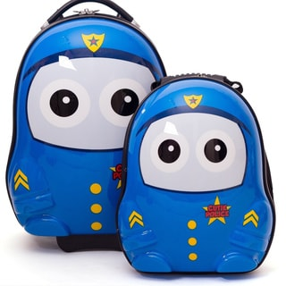 Cuties & Pals Police Kids Hardside Luggage Set
