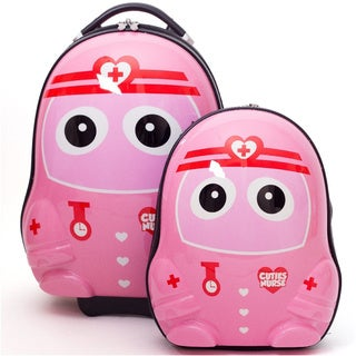 Cuties & Pals Nurse Kids Hardside Luggage Set