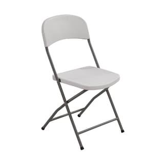 Merax Grey Folding Chairs (Set of 4)