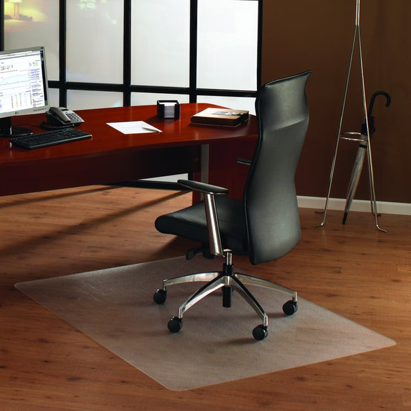 Floortex Cleartex Anti-Slip Ultimat Rectangular Chairmat for Polished Hard Floors (4' x 5')