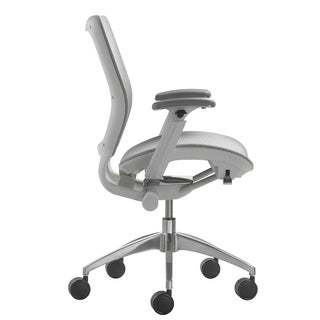EXO White/ Chrome Nebula Mesh Office Chair