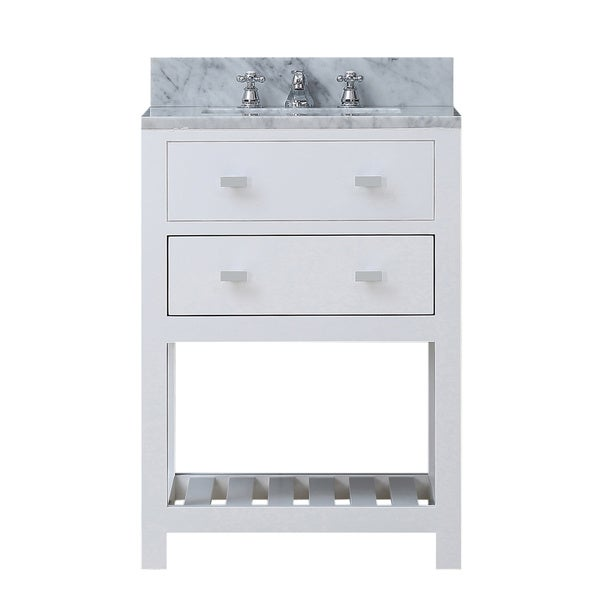 New Pure White Single Sink 36Inch Bathroom Vanity Transitionalbathroom