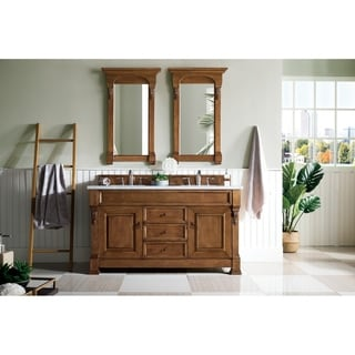 60-inch Brookfield Country Oak Double Vanity