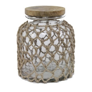 Sage & Co Clear Glass Jug With Jute Netting