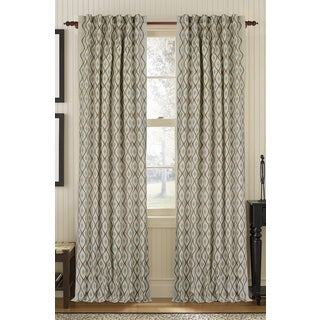 Decorative Aesthetic Embroidered Linen Rod Pocket Curtain Panel