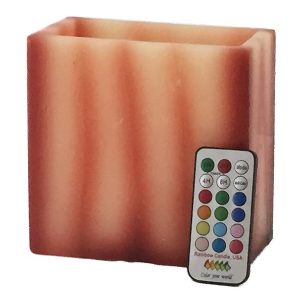 Contempo Lights LED Multi-color Flameless Vanilla Wax Candle with Remote