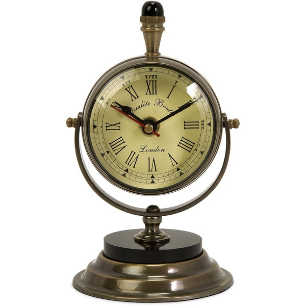 Soren Brass Table Clock