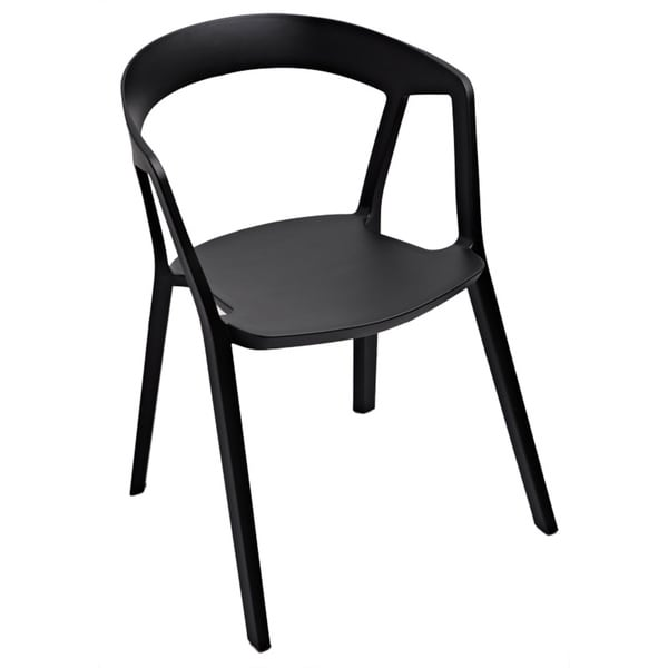 Anton Black Stackable Accent Chair (Set of 2)
