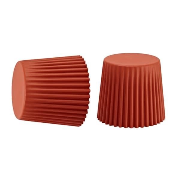 Sammy Dark Orange Stackable Stool (Set of 2)