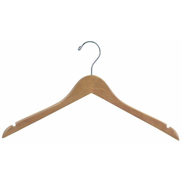 Wood Top Hangers with Notches