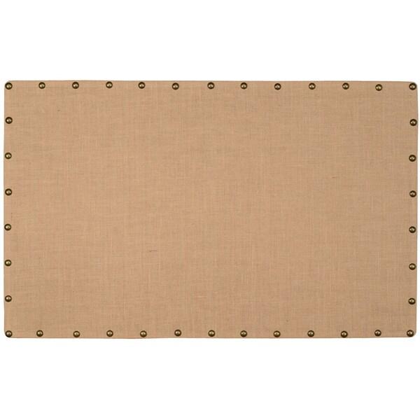 Large Linon Burlap Nailhead Corkboard