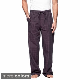 Ike Behar Westchester Men's Charcoal and Black Woven Lounge Pants