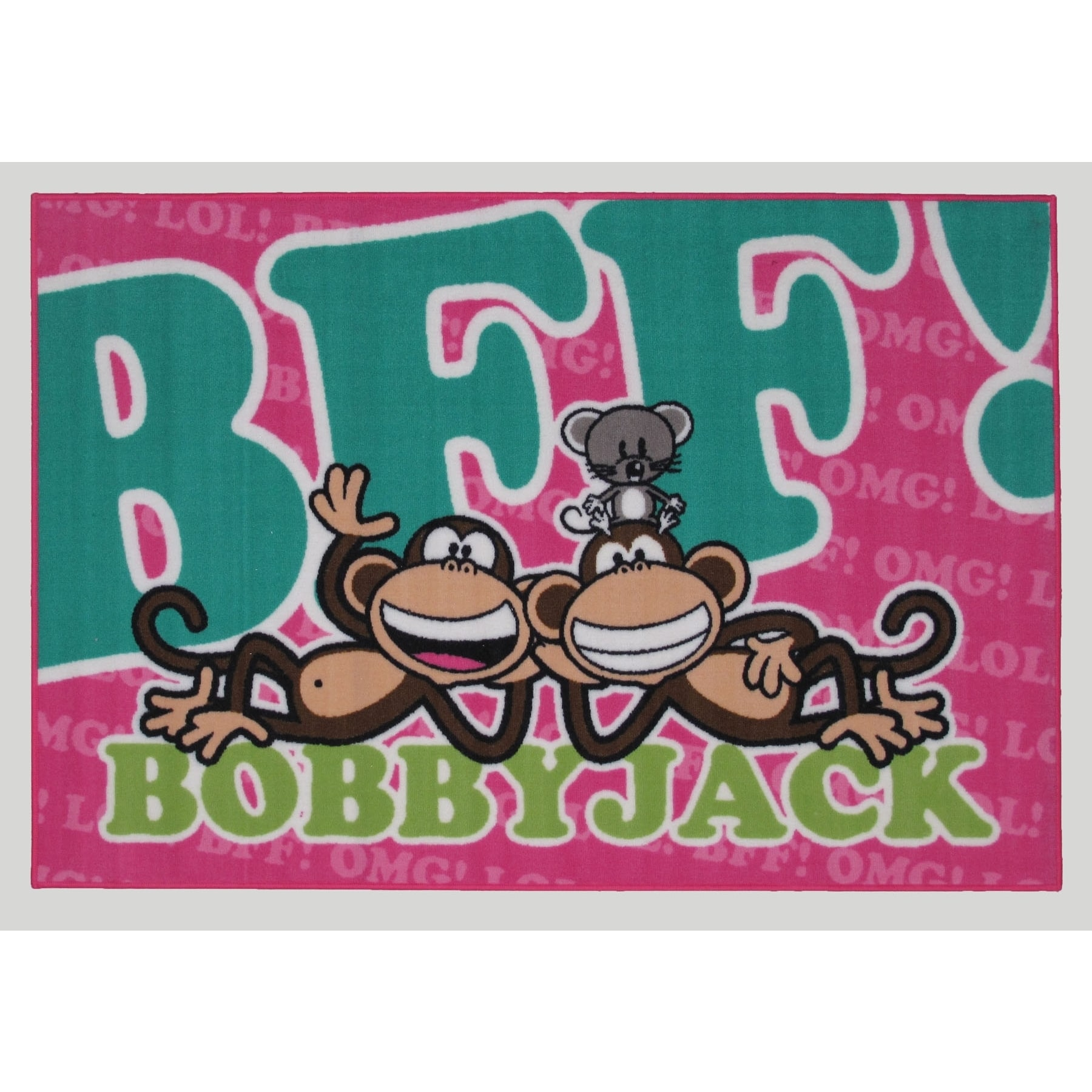 Overstock.com Machine-Made Bobby Jack Pink Nylon Accent Rug (1'6 x 2'4) at Sears.com