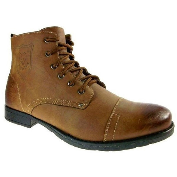 Polar Fox Men's Brown Ankle High Combat Boots