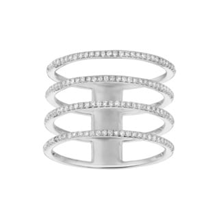 Sterling Silver 0.496ct Diamond Multi Row Ring (G-H, I1)