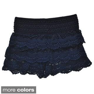 Girls Layered Lace Shorts
