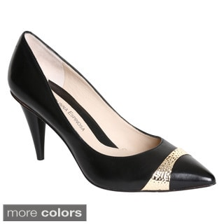 Carolinna Espinosa Women's 'Desi' Leather Pointy Pumps