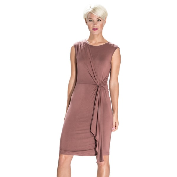 Amelia Women's Draped-side Sleeveless Dress