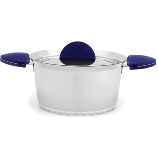 Stacca 8-inch Blue Covered Casserole Cookware