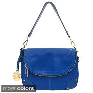 Cleopatra Alyssa Pebbled Flap-over Satchel