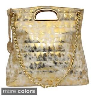 Cleopatra Charlotte Metallic Tote Bag
