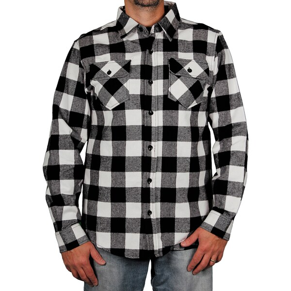 Clench Men 39 S Buffalo Plaid Flannel Shirt Overstock