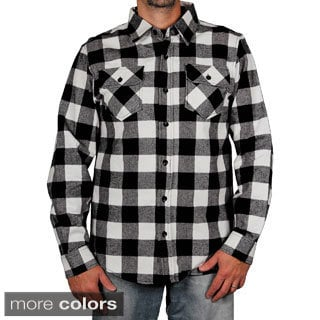 Clench Men's Buffalo Plaid Flannel Shirt
